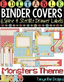 EDITABLE Binder Covers & Matching Sterilite Drawer / Desk