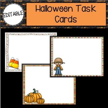 EDITABLE CARDS: Halloween Editable Cards