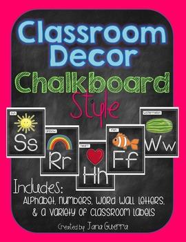 Chalkboard Classroom Decor (editable!