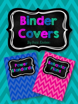 Chalkboard & Chevron Teacher Binder Covers and Spines *EDITABLE*