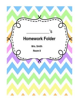 EDITABLE Chevron Homework Cover Page