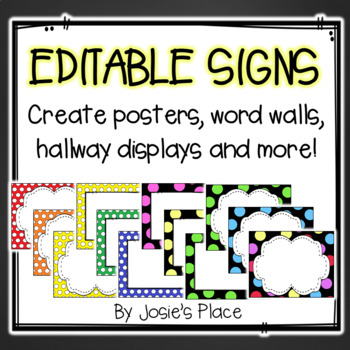 Create your own posters, signs, word wall, headers & more