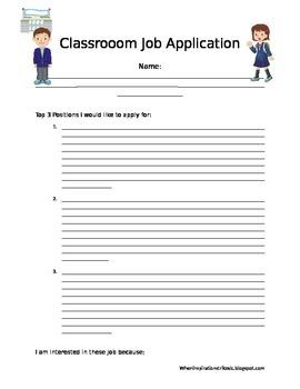EDITABLE Classroom Application Form
