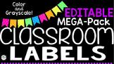 Classroom Labels Mega-Pack - EDITABLE