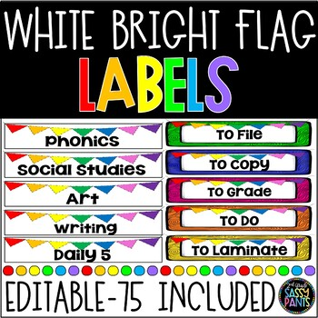 EDITABLE White & Bright Banner Labels {for Target Dollar S
