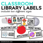 EDITABLE Classroom Library Labels for Bins & Books {White Series)