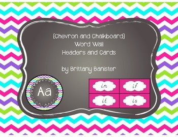 EDITABLE Colorful Chevron Word Wall Headers and Sight Word