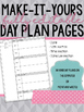 EDITABLE Day Plan Pages
