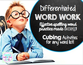 EDITABLE Differentiated Word Work: Cubing Activity for Any