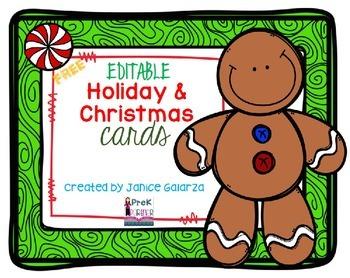 EDITABLE: Holiday Cards