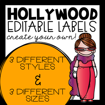 EDITABLE Hollywood Labels