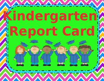 EDITABLE Kindergarten Skills Report Card