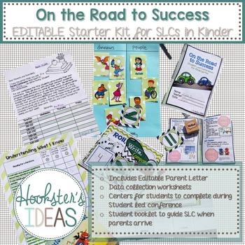 EDITABLE Kindergarten Student Led Conferences (SLC) Starter Pack