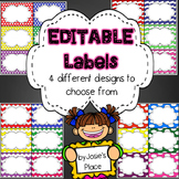 Labels  for the classroom (EDITABLE), word wall, book bins