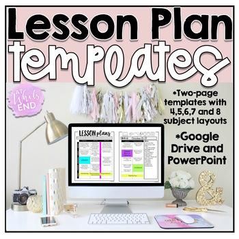 EDITABLE Lesson Plan Templates {Beginning of Year}