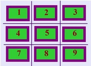 EDITABLE Math Review Tic Tac Toe Fun SmartBoard Interactiv