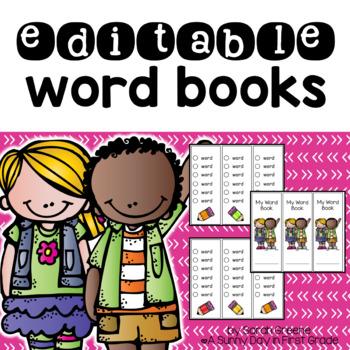 {EDITABLE} Mini Vocabulary Word Books!