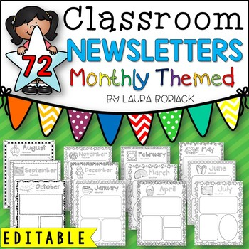Monthly Themed Newsletters {EDITABLE}
