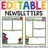 EDITABLE Monthly & Weekly Newsletters