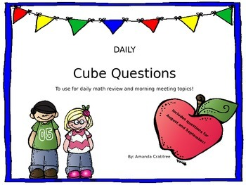 EDITABLE Morning Meeting and Math Review - August/September