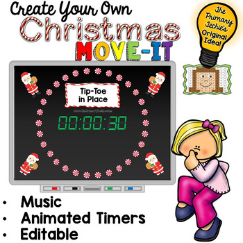 EDITABLE  Move It - Christmas Brain Breaks