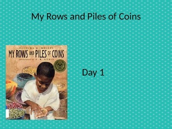 EDITABLE My Rows and Piles of Coins powerpoint and interac