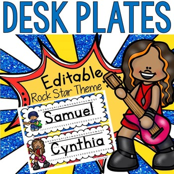 EDITABLE NAME PLATES: DESK PLATES: LABELS