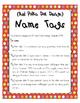 EDITABLE Nametags #5390 {Red Polka Dots Design}