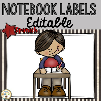 **EDITABLE** Notebook Labels in SPANISH