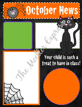 EDITABLE October Newsletter template -... by The Moeller Express ...