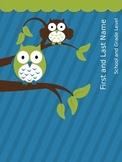 EDITABLE Owls Inspired Teacher Lesson Planner