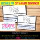 EDITABLE PDF Cut and Paste Sentences