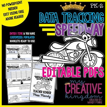 EDITABLE PDF Data Tracking Speedway Assessment