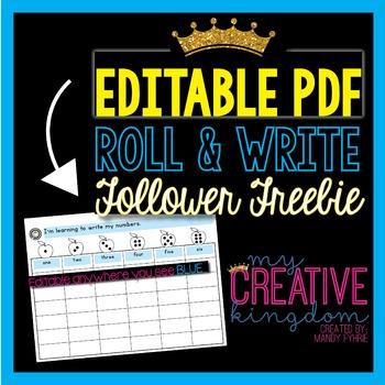 EDITABLE PDF Roll and Write Freebie