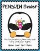 EDITABLE PENGUIN Binder {Student Organization Folder}