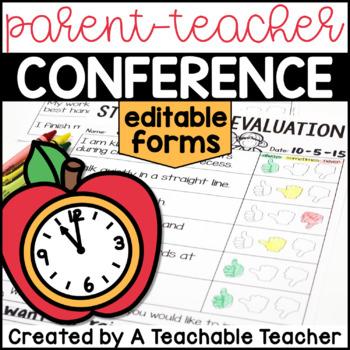 Parent Teacher Conference Forms - Editable