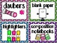 EDITABLE Polka Dot Supply Labels with Pictures MEGA Pack