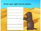 EDITABLE SIGHT WORD GAMES DESERT ANIMALS HABITAT TEXAS COW