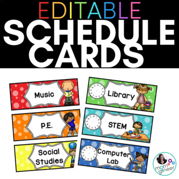 Editable Schedule Cards with Dots