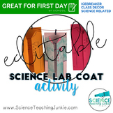 EDITABLE Science Lab Coat Activity