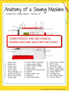 EDITABLE - Sewing Machine Workbook 101