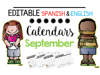 EDITABLE Spanish & English Behavior Calendar {September}