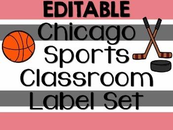 EDITABLE Sports Themed Classroom Label Set