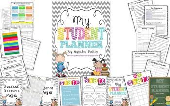 {EDITABLE!} Student Planner for 3rd Grade!