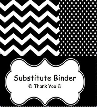 EDITABLE Substitute Binder – PRINTABLES!!
