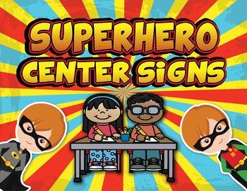 EDITABLE Superhero Center Signs - PDF & PowerPoint Editabl