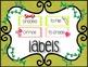 EDITABLE Supply Bins- Labels Galore! Safari Vines with Gra