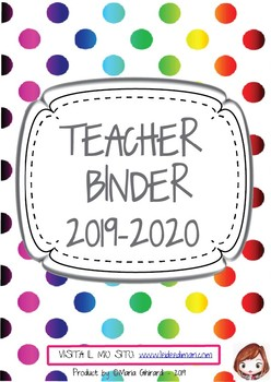 EDITABLE TEACHER BINDER 2015/2016