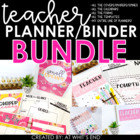 Teacher Binder BUNDLE  - {Calendars, Meet the Teacher, Forms!} Editable Features