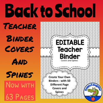 Teacher Binder Covers -  Gray Textile Background EDITABLE